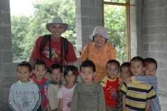 2008 - Playing with village kids